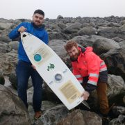 MaREI researchers with the Black Rock mini boat